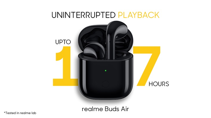 realme Buds Air的續航時間公開,將具有無線充電功能