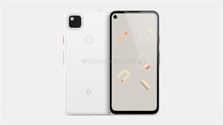 谷歌Pixel 4a手机渲染图曝光