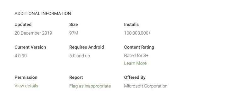 微軟Outlook在谷歌商店的安裝量已超1億