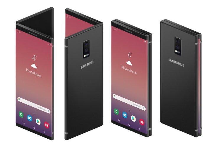 外媒爆出三星Galaxy F折叠屏手机渲染图(1)