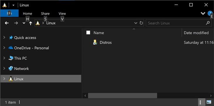 微软Windows 10 20H1版本新特性:允许浏览Linux子系统