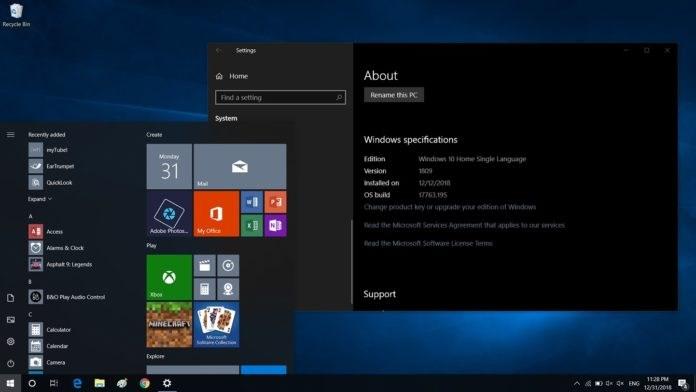 微软测试Windows 10更新十月版17763.346发布预览:解