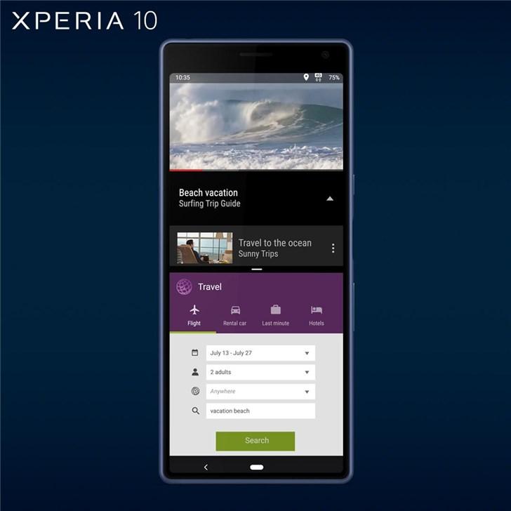 索尼Xperia 10/10 Plus发布:21:9屏幕,630/636处理器