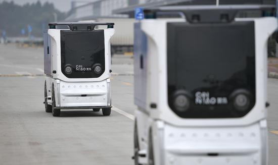 菜鸟宣布国内首个无人车未来园区在成都启用