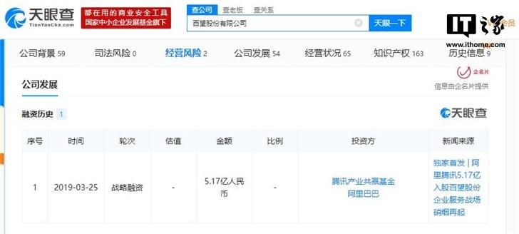 """【更新】阿里、腾讯入局""""互联网+税务"""",5.17亿人民币战略投资百望"""
