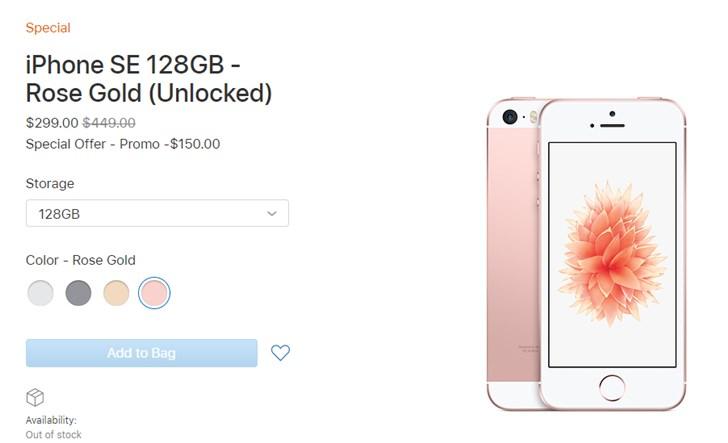 苹果美区官网上架iPhone SE特别版:249美元起 目前仅限美区