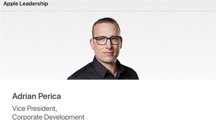 苹果提名Adrian Perica出任企业发展副总裁 继续负责收购和并购事项