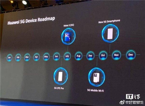 华为公布5G路线图:Mate X 5G版七月上市,新5G手机