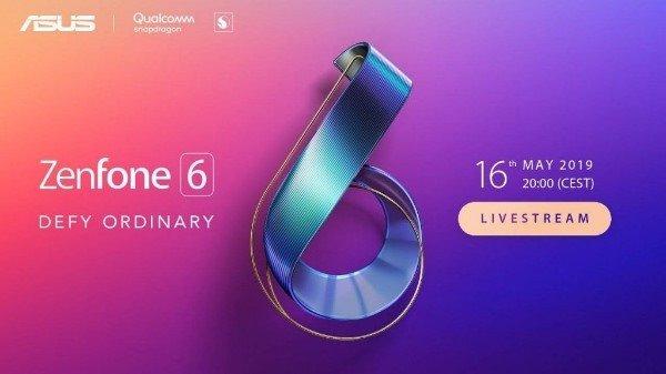华硕Zenfone 6将在5月16日正式发布:搭载骁龙855