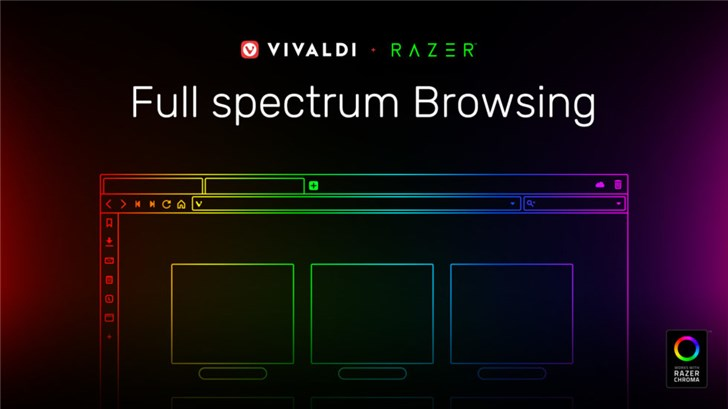 Vivaldi推出首个 RGB 浏览器:整合雷蛇Chroma灯效}