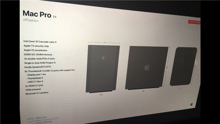 苹果内部文档曝光新款Mac Pro造型 这款产品即将到来