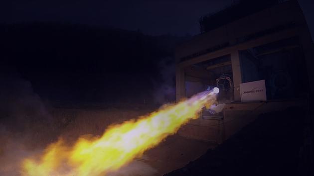 """国内首台80吨液氧甲烷发动机""""天鹊""""试车成功"""