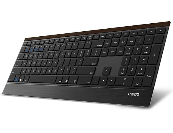 雷柏发布E9500无线键盘:机身最薄处4.5毫米}