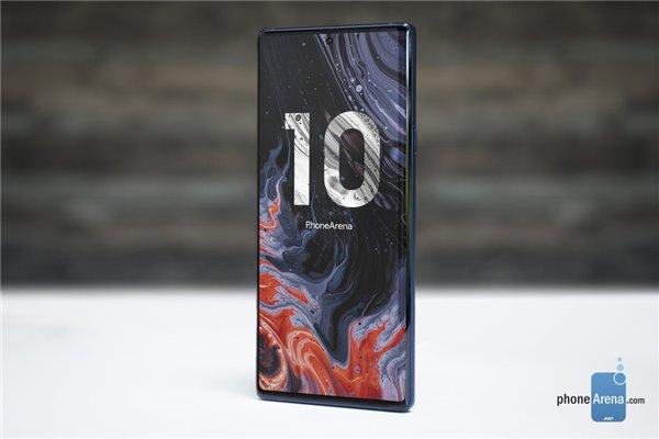 外媒制作三星Galaxy Note 10渲染图:居中打孔屏,竖排四摄