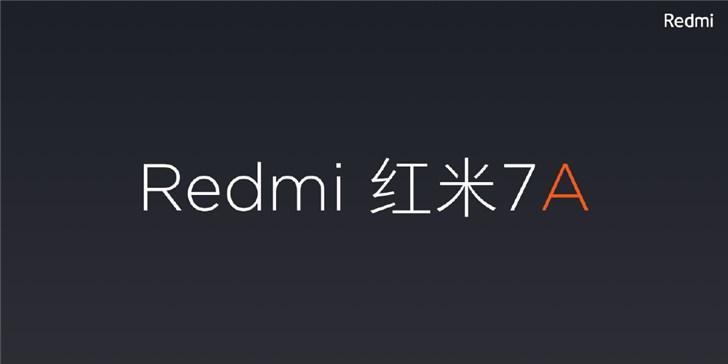 Redmi 红米7A线上突然发布:骁龙439,4000mAh大电池
