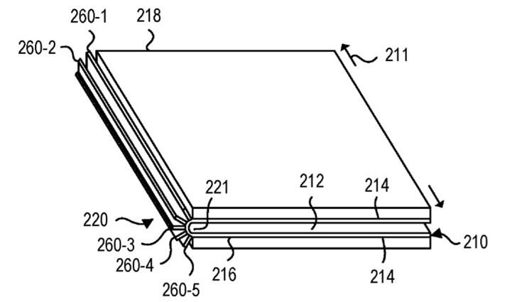注重可移动显示技术,微软Surface柔性折叠屏专利
