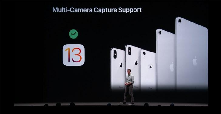 苹果iOS 13/iPadOS新增多摄像头同步开启:限最新