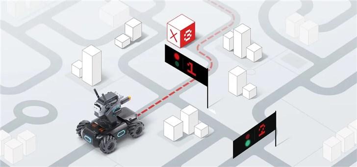 大疆发布首款教育机器人:机甲大师S1 46个编程控制部件