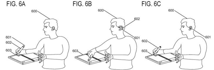 微软奇特专利曝光:Surface Pen变蓝牙耳机,戴在耳朵上