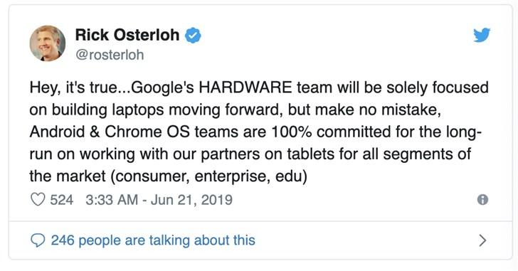一文回顾谷歌那些年的平板电脑产品