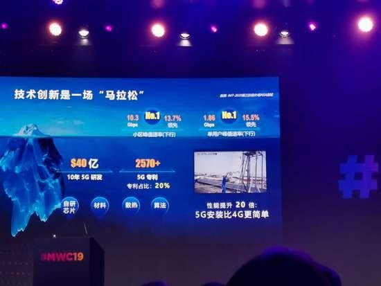 胡厚崑:华为5G研发已有10年,累计投入40亿美元