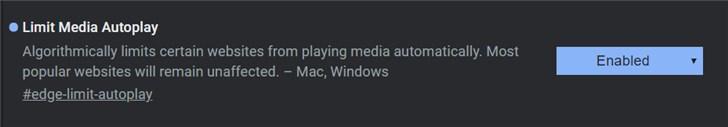 微软Chromium版Edge浏览器新特性:自动阻止视频播放