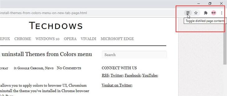 谷歌Chrome浏览器新功能:删除主题更方便