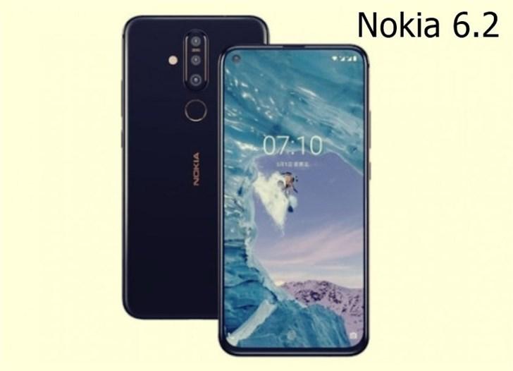诺基亚6.2渲染图曝光 采用6英寸打孔屏和后置三摄设计