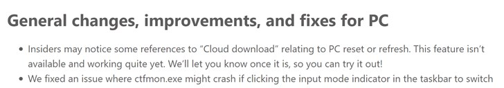 微软官方确认:Windows 10将加入云下载PC重置功能