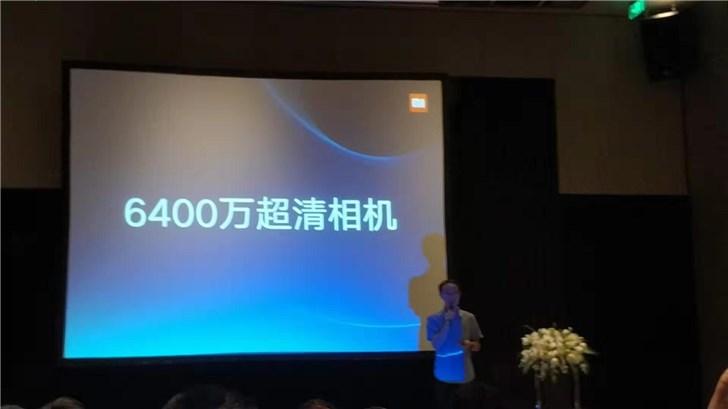 小米正式宣布6400万超清相机:采用三星GW1传感器