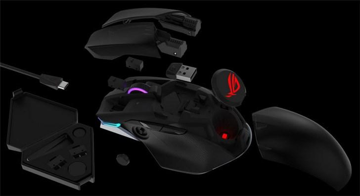 华硕推出ROG Chakram无线鼠标,带有一个控制摇杆