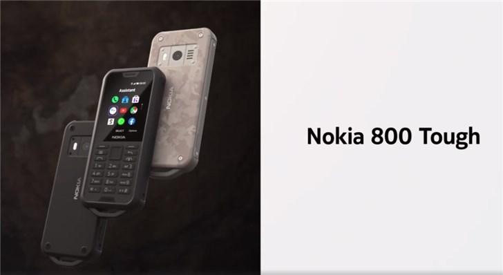 诺基亚发布800 Tough三防手机:IP68防水防尘,军工