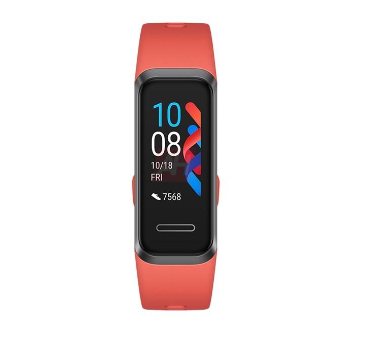 华为手环4 Pro渲染图疑似曝光 采用珊瑚橙色+心率传感器