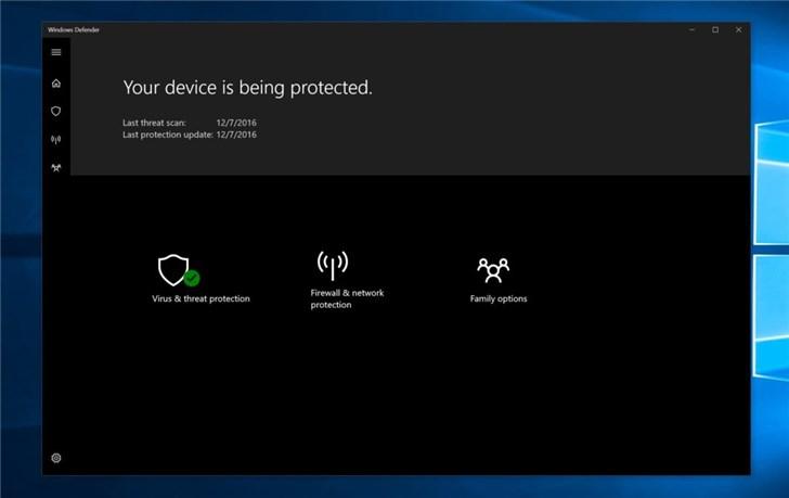 微软Windows 10补丁惹新麻烦 Defender手动扫描功能损坏