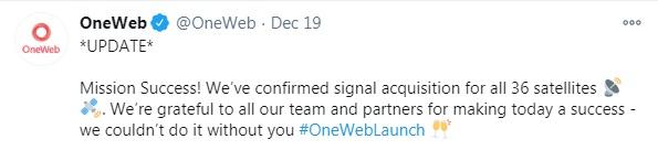 36 颗卫星上天:曾被孙正义放弃,马斯克贝索斯都想收购,创业公司 OneWeb 如今…