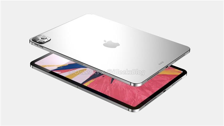 苹果 iPad Pro 12 英寸曝光:后置三摄,备货峰值每月 300 万台