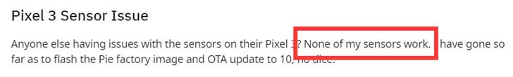 五个月过去了,谷歌仍未修复Pixel设备传感器失效问题}