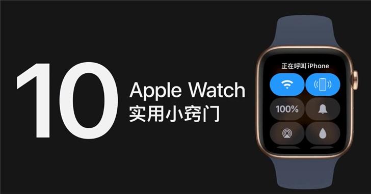 定位iPhone、合照作取景框...苹果官方总结10个Apple Watch实用小窍门