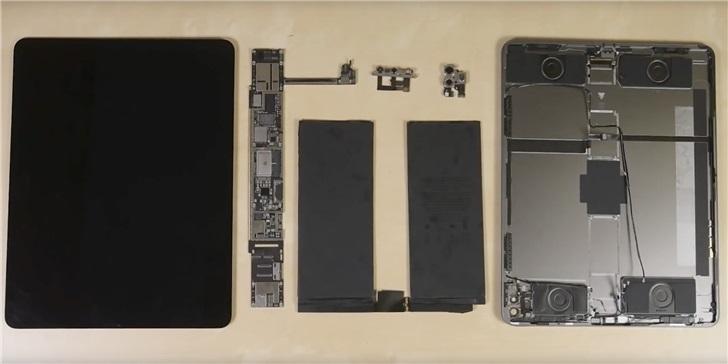 得分 3 分,iFixit 拆解苹果 iPad Pro 2020 :A12Z 加 6GB 内存,激光雷达露真容}