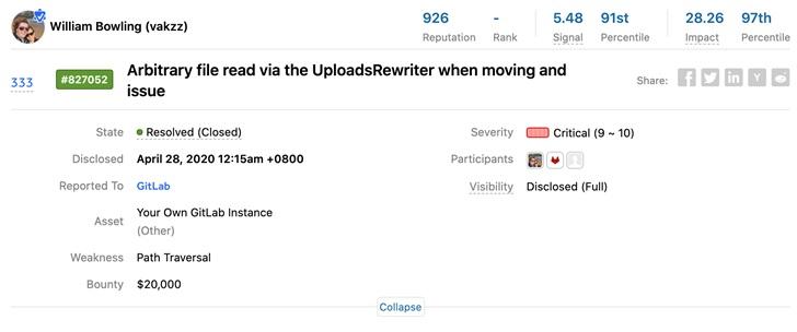 GitLab 向报告远程代码执行漏洞的研究员奖励 2 万美元