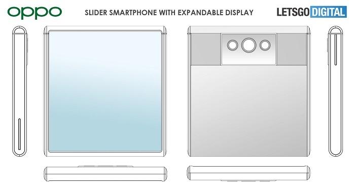 OPPO可伸缩手机屏幕专利:手机屏幕显示面积可增加 80%
