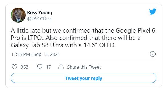 谷歌 Pixel 6 Pro 有望配备三星 E5 LTPO OLED 屏幕