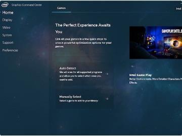 英特尔全新显卡控制面板来了:现代化设计,一键游戏优化
