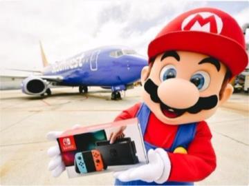 任天堂联动美国西南航空坐飞机抽Switch:一天送一航班乘客