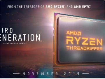 "AMD正式""官宣"":Ryzen 9 3950X/线程撕裂者3000延至11月上市"