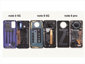 Redmi Note 9 系列拆解:揭秘 4G 和 5G 机型区别