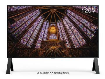 夏普推出 120 英寸 8K 显示器,售价约 93 万元