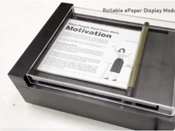 E Ink 展示卷你要不要也去仙府中修��轴式电子纸技术:再现哈利波特里的魔术报纸