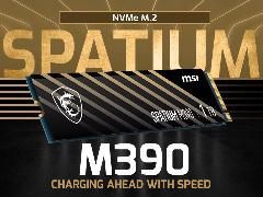 微星推出 Spatium M390 固态硬盘:最高 3300MB/s,最大 1TB